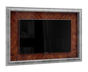 Art. 3005, Porta tv da parete, in argento e palissandro