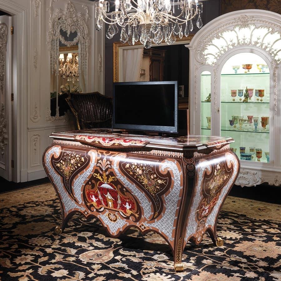 Art 5235 mobile porta tv soggiorno classico idfdesign for Bellotti arredamenti
