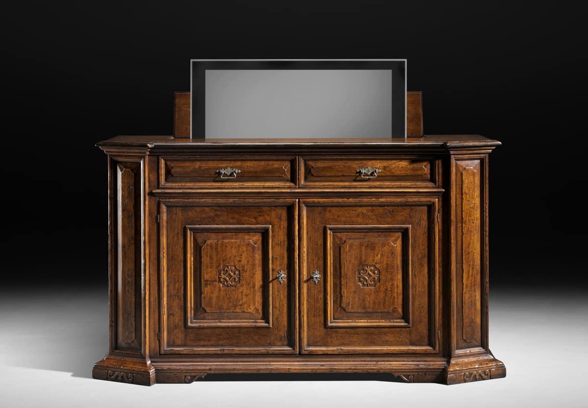 Credenza con porta tv a sollevamento idfdesign - Giovanni visentin mobili ...
