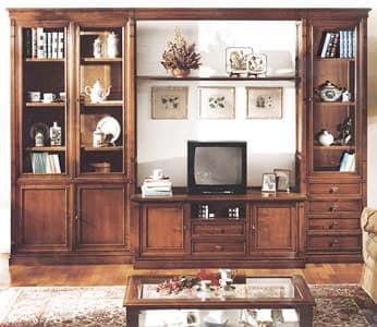 Porta tv stile antico componibile full arredamento classico for Arredamento classico lusso