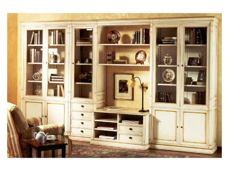 Parete soggiorno realizzabile su misura stile classico idfdesign - Mobili tv classici ...