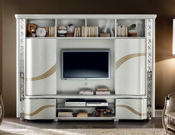 Mobile Porta Tv Contemporaneo.Mobile Tv Altamente Funzionale Stile Contemporaneo Idfdesign