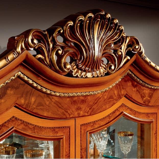 MONDIAL / home theatre, Mobile porta tv decorato con intagli, per Salotto