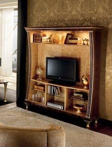Rossini mobile TV 01, Mobile tv con libreria, funzionalit� e design