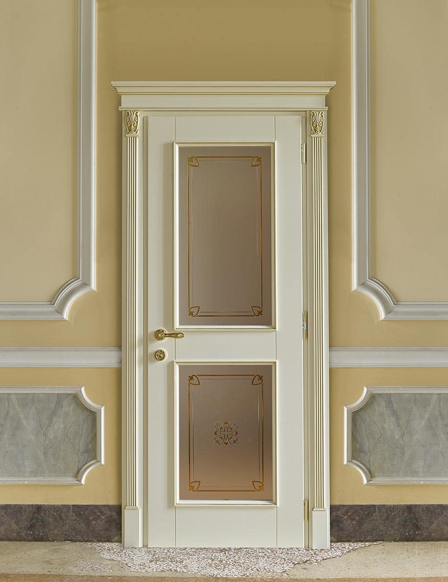 Porta con vetro in stile classico per alberghi di lusso - Foto di porte ...