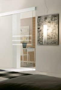 p400 panama, Porta per muratura, struttura in alluminio, per alberghi