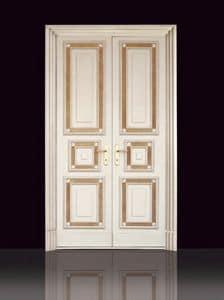 Polac, Porta per muratura, di alta qualità, in legno decorato