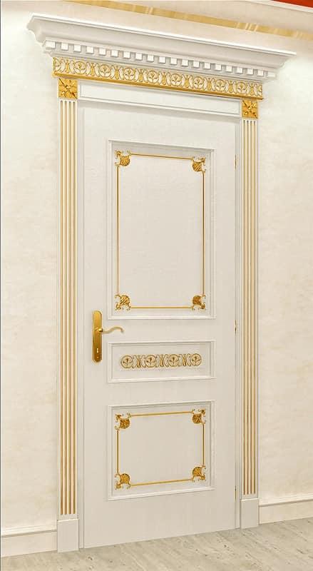 Porta di alta qualit in stile classico di lusso per - Maniglie per porte interne classiche ...