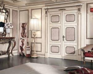 Porta scorrevole con binario ante in vetro colorato for Casa classica srl