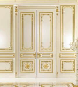 Villa d'Este laccata, Boiserie classica con intagli fatti a mano per alberghi