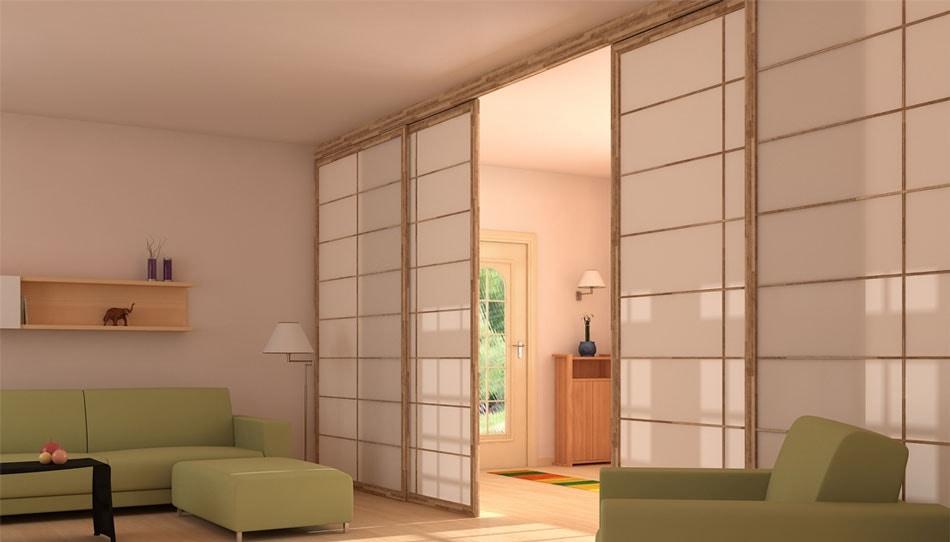 Ante e pareti scorrevoli in stile giapponese idfdesign for Arredamento parrucchieri outlet