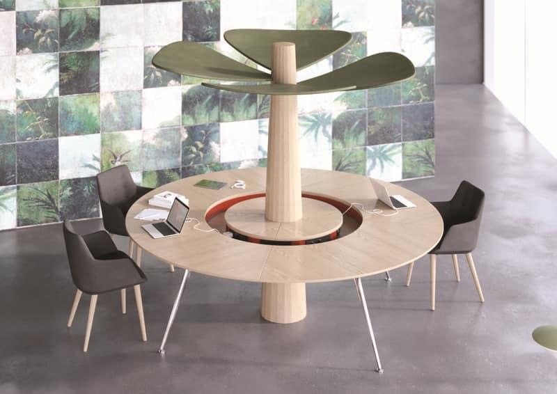Tavolo tondo da ufficio, per area condivisa | IDFdesign