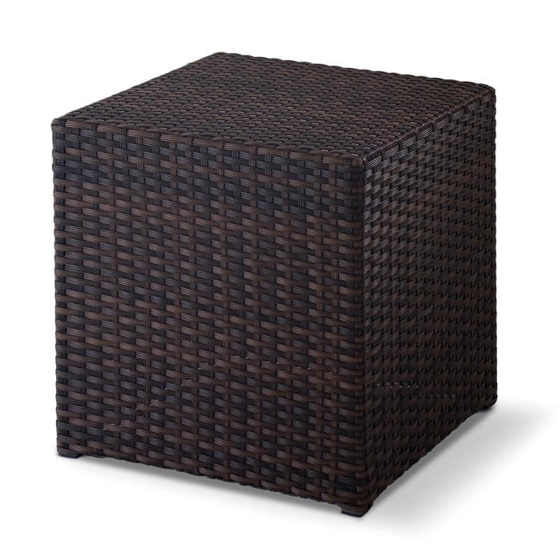 FT Pouff, Sedute basse intrecciate, forma di cubo, per esterni