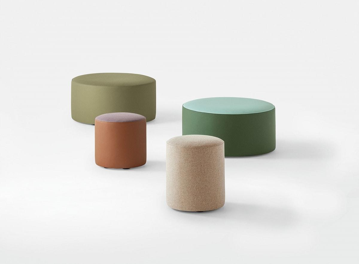 Pouf Moderno Monocolore Con Ruote Per Zona Attesa Idfdesign