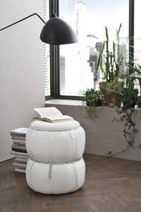 PASCIA PF606, Pouf-comodino con contenitore per ambienti residenziali