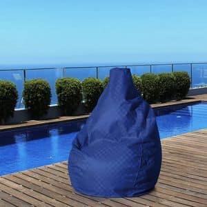 Pouf sacco esterno impermeabile giardino Summer � SE100PUF, Pouf a forma di pera, resistente, per esterni