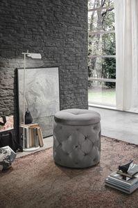 PUPO PF602, Pouf-comodino con contenitore ideale per ambienti residenziali