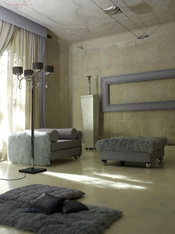 Pouf imbottito per Salotto classico contemporaneo  IDFdesign