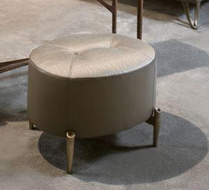 AFRODITE pouf GEA Collection, Pouf ovale, con piedini bronzati