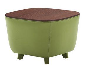 Diadema 04023, Tavolino pouf con piedini in legno