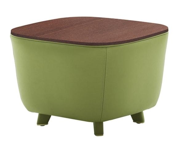 Tavolino pouf con piedini in legno | IDFdesign