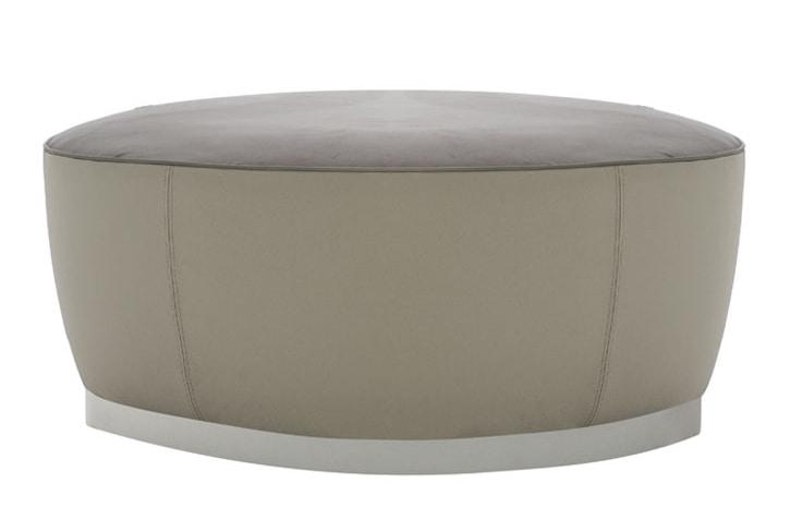 Diadema 04040 - 04041, Pouf tondo con piedini in legno
