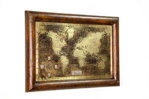 Art. AA464, Planisfero in bronzo anticato e spazzolato