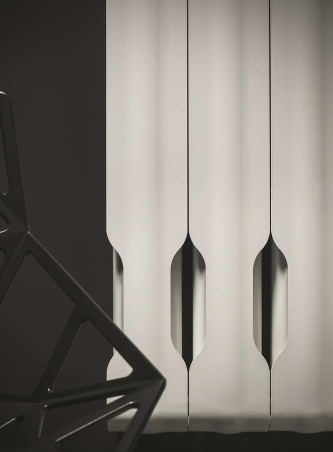 Agorà, Radiatore componibile, in alluminio, con linea sinuosa