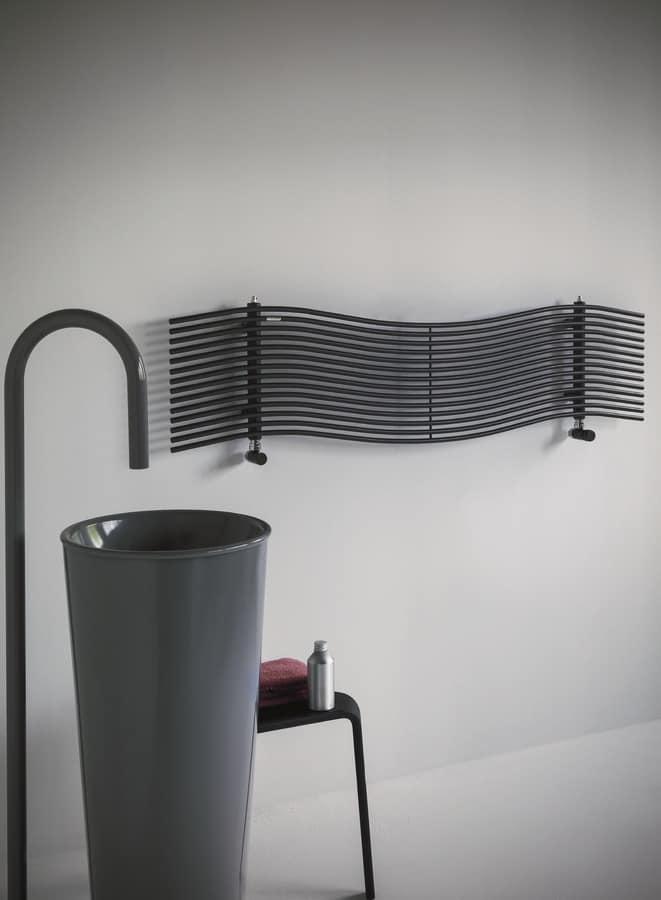 Radiatore orizzontale per bagno idfdesign - Caloriferi per bagno ...