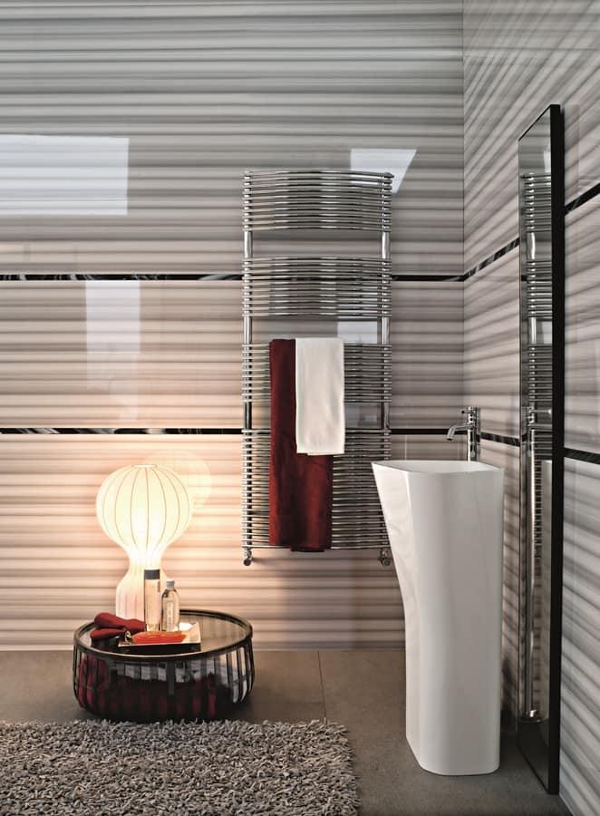 Bath curvo, Radiatore cromato per bagni