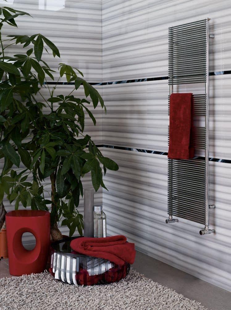 Color X - BA10G, Radiatore da bagno, con porta asciugamani