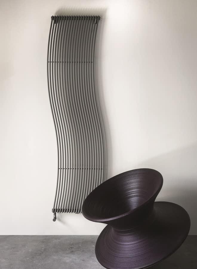 Hola, Raffinato radiatore, con forma sinuosa, per ogni ambiente