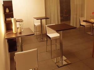 ART. 504, Piano quadrato in legno per tavolino da bar