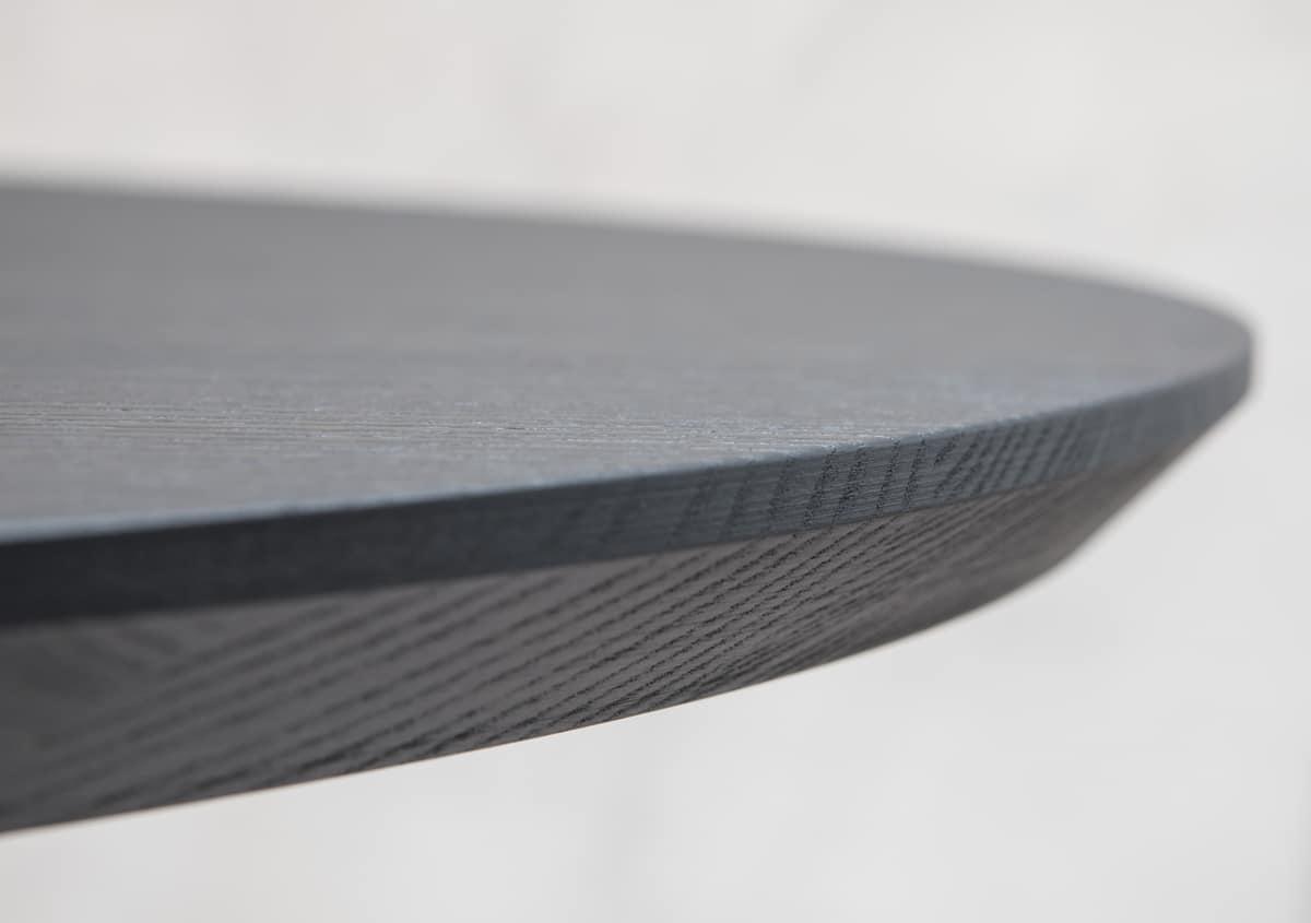 ART. 0098-5 AKY CONTRACT ROTONDO, Piano rotondo per tavolino design, con bordo smussato