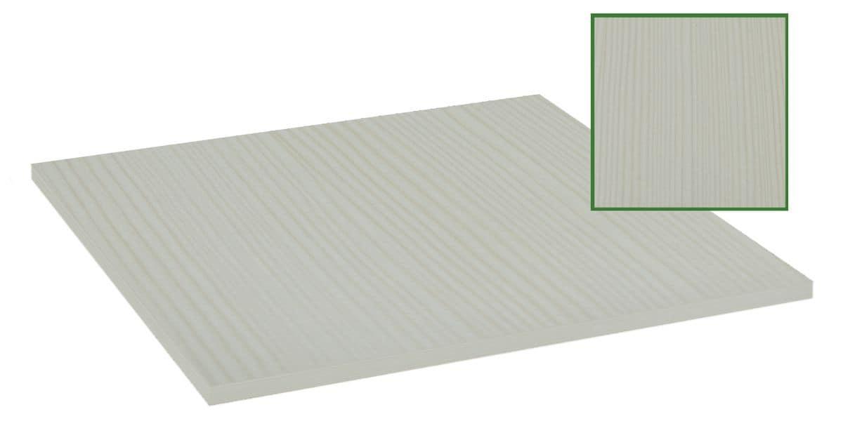 Piano tavolo in nobilitato melaminico bianco papiro, Piano in nobilitato melaminico bianco papiro