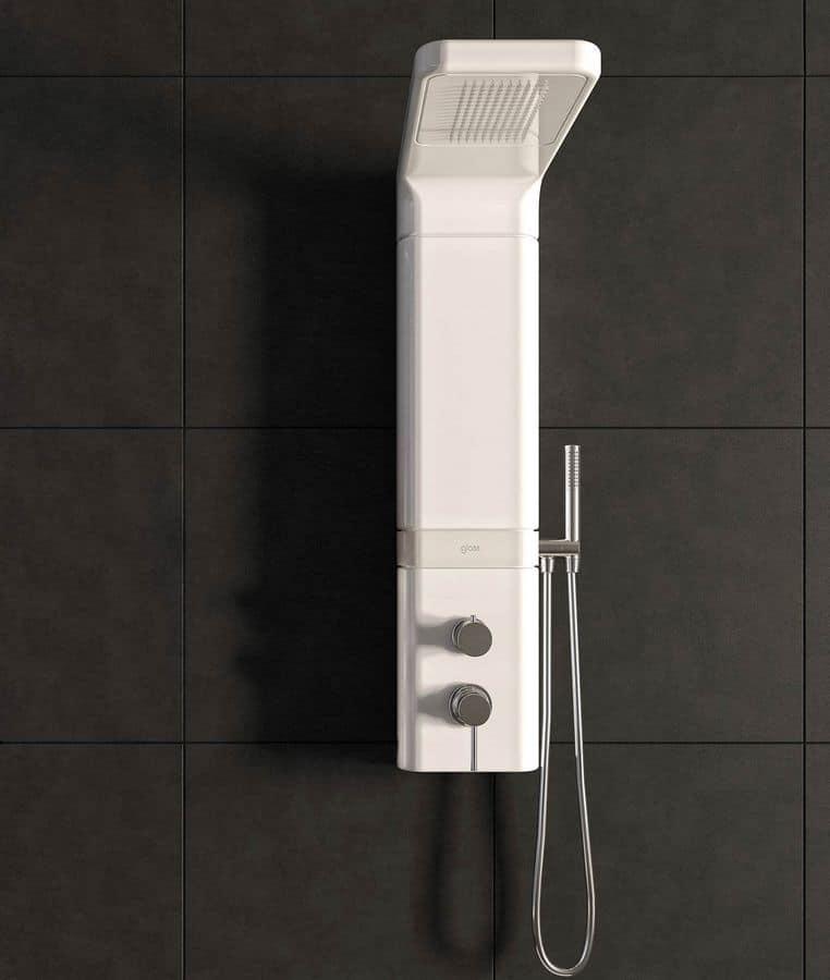 Pannello doccia in ceramica, modulo soffione, miscelatore termostatico  IDFdesign