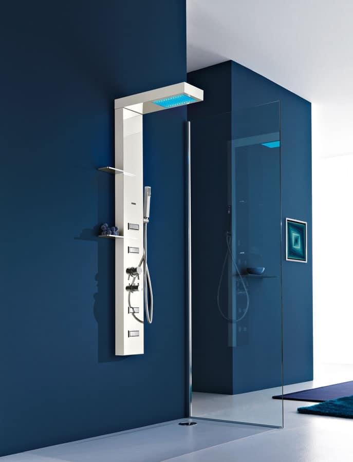 Colonna doccia, multifunzione, cromoterapia, per bagno  IDFdesign