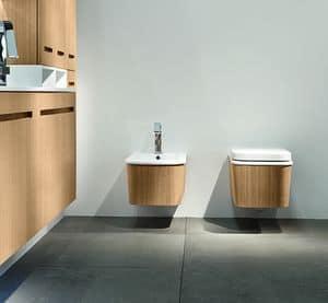 Eos Cono, Lavabo e WC in ceramica, personalizzabili