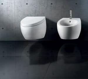 OVAL WALL WC BIDET, Sanitari sospesi, varie finiture disponibili