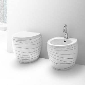 OVAL WC BIDET, Sanitari in ceramica, varie finiture disponibili
