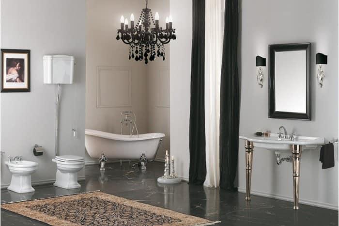 Wc con cassetta alta coprivaso e bidet idfdesign for Rubinetti sanitari bagno