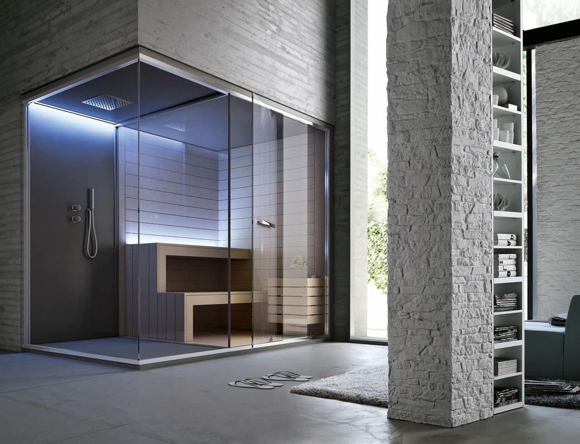 Ethos, Hammam, spazio doccia e sauna, per hotel di lusso