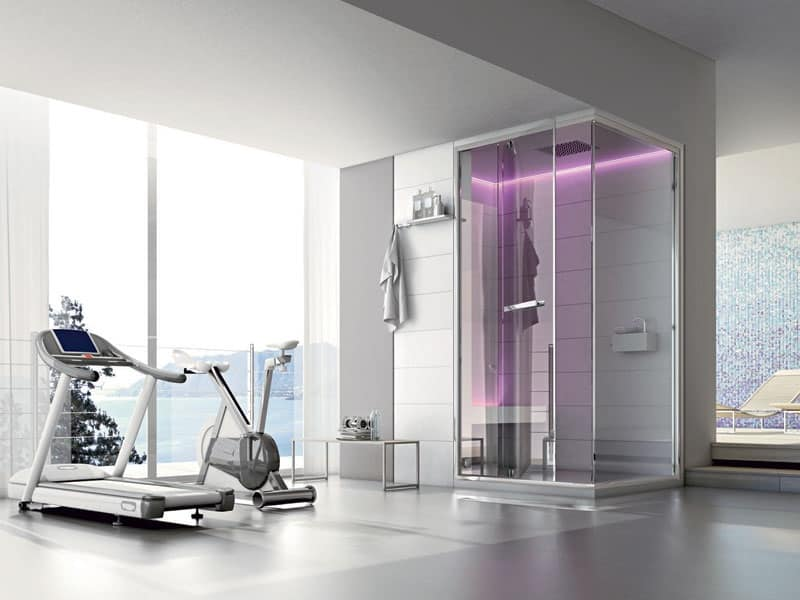 Box doccia moderno per la casa cromoterapia idfdesign - Box doccia cromoterapia ...