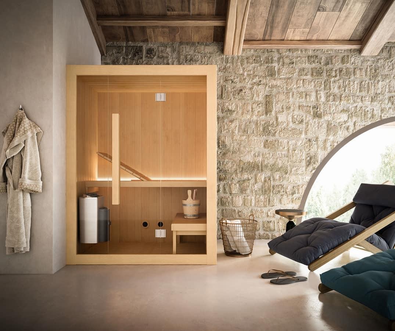 Sauna finlandese con molte dotazioni idfdesign - Bagno finlandese ...
