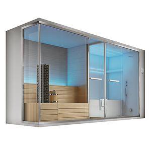 Olimpo con sauna, Sauna e hammam, con vasca e doccia, con cromoterapia