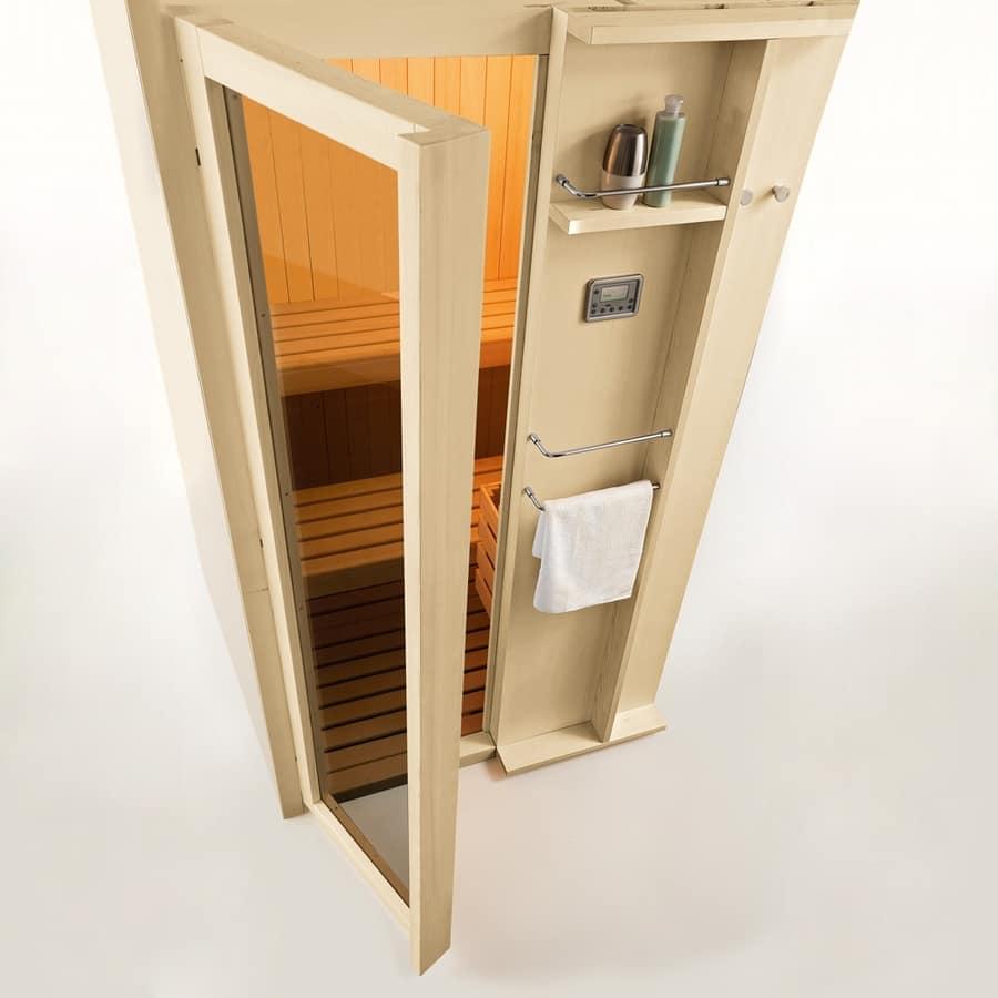 Sauna finlandese con cromoterapia con led per spa - Bagno finlandese ...