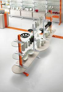 Contemporary - gondola espositiva per negozi casalinghi, Espositore autoportante per negozio