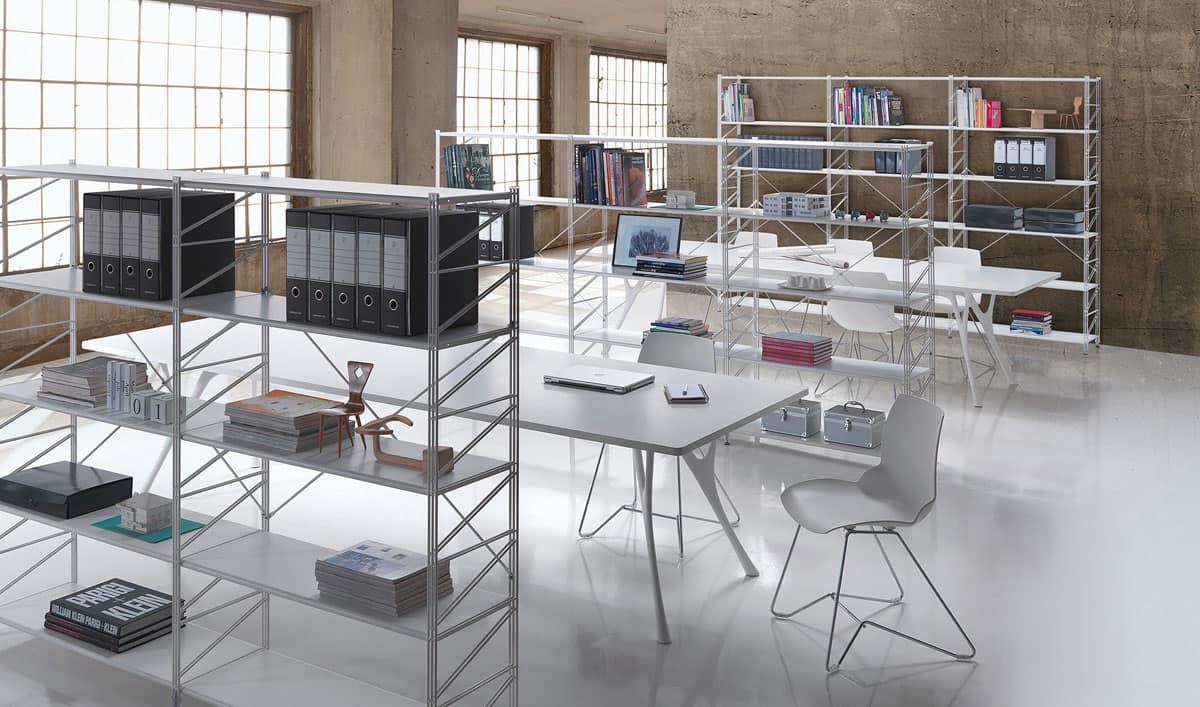 Scaffalatura componibile per biblioteche e negozi idfdesign for Negozi design