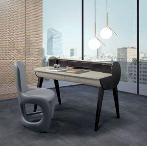 SC31 scrivania, Scrittoio in legno bicolore