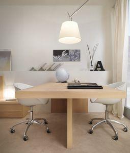 Scrivania lineare 04, Elegante scrivania doppia